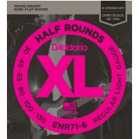 Thumbnail van D'Addario ENR71-6 Regular light Half round Pure Nickel