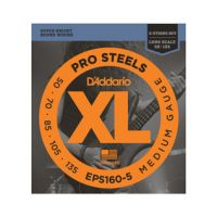 Thumbnail van D'Addario EPS160-5 ProSteels 5-String Bass, Medium, 50-135, Long Scale