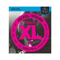 Thumbnail van D'Addario ESXL170-5 Nickel Wound 5-String Bass, Light, 45-130, Double Ball End, Long Scale