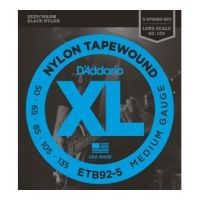 Thumbnail van D'Addario ETB92-5 Long scale Black Nylon Tapewound
