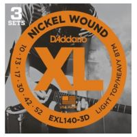 Thumbnail van D'Addario EXL140-3D 3PACK XL nickelplated steel