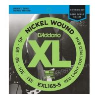 Thumbnail van D'Addario EXL165-5 Long scale XL nickelplated steel