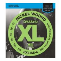 Thumbnail van D'Addario EXL165-6 Long scale XL nickelplated steel