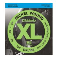 Thumbnail van D'Addario EXL165 Long scale XL nickelplated steel