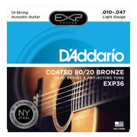 Thumbnail van D'Addario EXP36 Coated 80/20 Bronze, 12-String, Light, 10-47