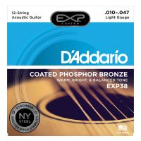 Thumbnail van D'Addario EXP38 Light 12 string Coated phosphor bronze