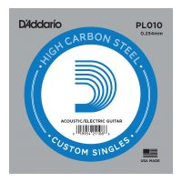 Thumbnail van D'Addario PL010 Plain steel Electric or Acoustic
