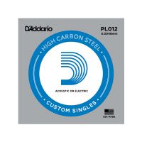 Thumbnail van D'Addario PL012 Plain steel Electric or Acoustic