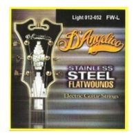 Thumbnail van D'Angelico FW/L Light Stainless steel flatwound