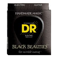Thumbnail van DR Strings BKE7-10 Black Beauties Medium Black coated