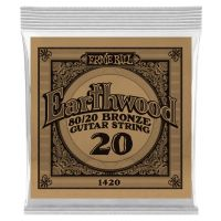 Thumbnail van Ernie Ball eb-1420 Single Earthwood Wound 80/20 bronze 020
