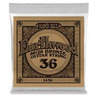 Thumbnail van Ernie Ball eb-1436 Single Earthwood Wound 80/20 bronze 036