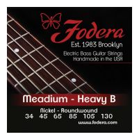 Thumbnail van Fodera N34130XL Medium Nickel, 6 string Extra long scale