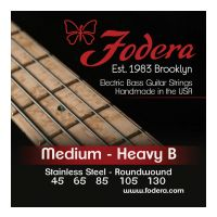 Thumbnail van Fodera S45130TB Medium Stainless,  5 string Tapered B