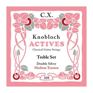 Preview van Knobloch 308CX Knobloch Actives medium Double Silver CX carbon Treble set