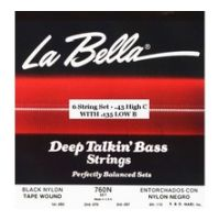 Thumbnail van La Bella 760N-CB High-C, Low B Black Nylon Tape Wound