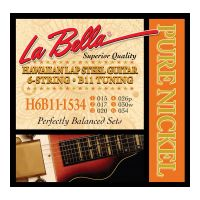 Thumbnail van La Bella H6B11-1534 Hawaiian Lap Steel Guitar, Pure Nickel – 6-String B11 Tuning 15-34