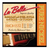 Thumbnail van La Bella H6C6-1532 Hawaiian Lap Steel Guitar, Pure Nickel – 6-String C6 Tuning 15-32