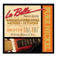 Thumbnail van La Bella H8C6-1156 Hawaiian Lap Steel Guitar, Pure Nickel – 8-String C6 Tuning 11-56