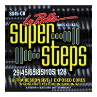 Thumbnail van La Bella SS45-CB Super Steps, 6-String – Custom Light 29-128  long scale